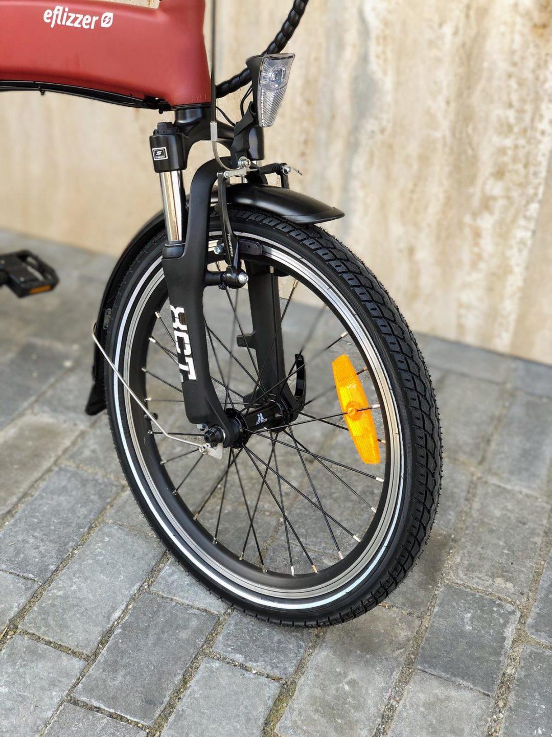 eflizzer klappbares E-Bike Sprint - Suntour XCT Federgabel